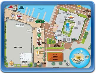 Sunset Waterfront Shoppes Map
